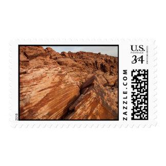 Striped Red Rocks Postage