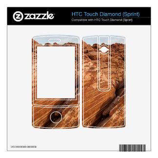 Striped Red Rocks HTC Touch Diamond Skin
