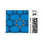 Striped Repeating Jewish Stars Postage Stamp