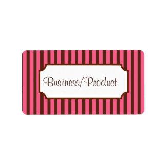 Striped Retro Business Labels
