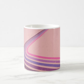 Striped Retro Classic White Coffee Mug