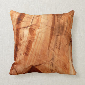 Striped Rock of Double Arch Alcove I Throw Pillow