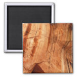 Striped Rock of Double Arch Alcove I Zion Park 2 Inch Square Magnet