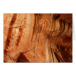 Striped Rock of Double Arch Alcove I Zion Park Greeting Card