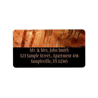 Striped Rock of Double Arch Alcove I Zion Park Label