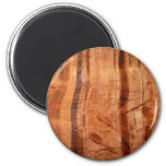 Striped Rock of Double Arch Alcove II Zion Park 2 Inch Round Magnet