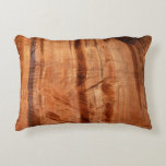 Striped Rock of Double Arch Alcove II Zion Park Accent Pillow