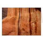 Striped Rock of Double Arch Alcove II Zion Park Card