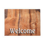 Striped Rock of Double Arch Alcove II Zion Park Doormat
