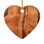 Striped Rock of Double Arch Alcove II Zion Park Double-Sided Heart Ceramic Christmas Ornament