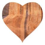 Striped Rock of Double Arch Alcove II Zion Park Heart Sticker