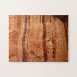 Striped Rock of Double Arch Alcove II Zion Park Jigsaw Puzzle