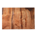 Striped Rock of Double Arch Alcove II Zion Park Laminated Place Mat