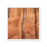Striped Rock of Double Arch Alcove II Zion Park Paper Napkin