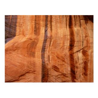 Striped Rock of Double Arch Alcove II Zion Park Postcard
