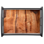 Striped Rock of Double Arch Alcove II Zion Park Serving Tray