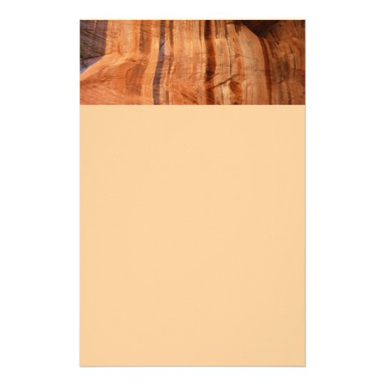 Striped Rock of Double Arch Alcove II Zion Park Stationery
