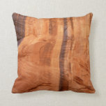 Striped Rock of Double Arch Alcove II Zion Park Throw Pillow