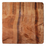 Striped Rock of Double Arch Alcove II Zion Park Trivet
