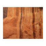 Striped Rock of Double Arch Alcove II Zion Park Wood Print