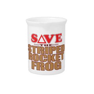 Striped Rocket Frog Save Beverage Pitcher