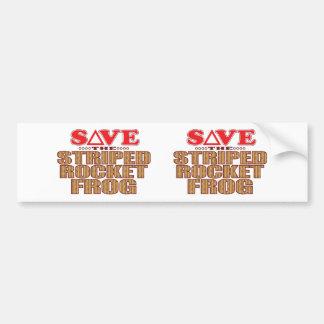 Striped Rocket Frog Save Bumper Sticker