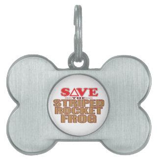 Striped Rocket Frog Save Pet ID Tag
