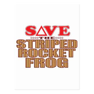 Striped Rocket Frog Save Postcard