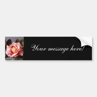 Striped Rose Car Bumper Sticker