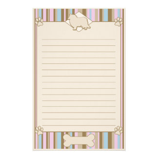 Striped Rough Collie Stationery