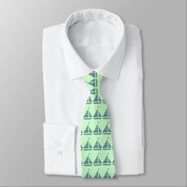 Lawyer Themed Striped Sail Boat Tie