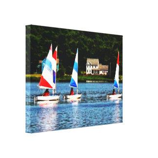 Striped Sails Canvas Print