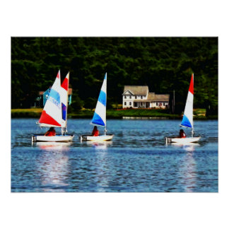 Striped Sails Poster