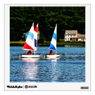 Striped Sails Wall Sticker