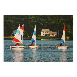 Striped Sails Wood Print