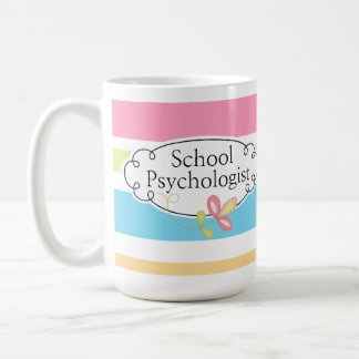 Striped School Psychologist's Mug
