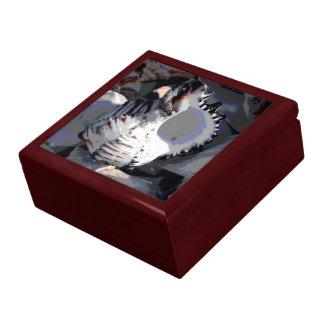 Striped Sea Shell Jewelry Box