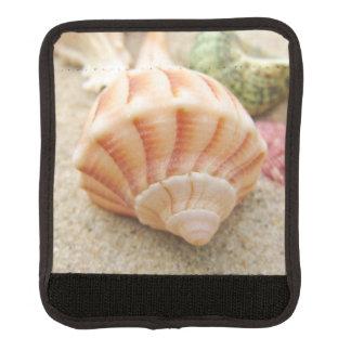 Striped Sea Shell Lightning Whelk Luggage Handle Wrap