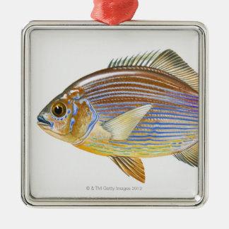 Striped Seaperch Metal Ornament