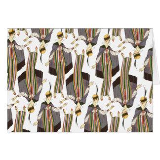 Striped Sheath Art Deco Fashions Card