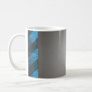 Striped Silver Brushed Aluminum Coffee Mug