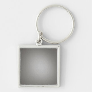 Striped Silver Brushed Aluminum Keychain