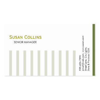 Striped Simple Modern Elegant Professional Double-Sided Standard Business Cards (Pack Of 100)