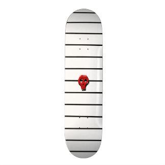 Striped Skull Skateboard