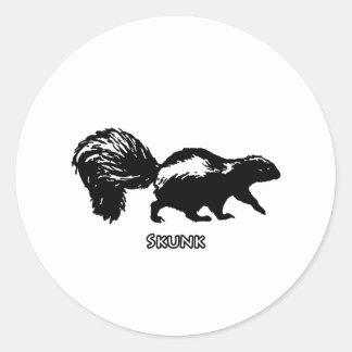 Striped Skunk Classic Round Sticker