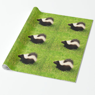 Striped Skunk Wrapping Paper