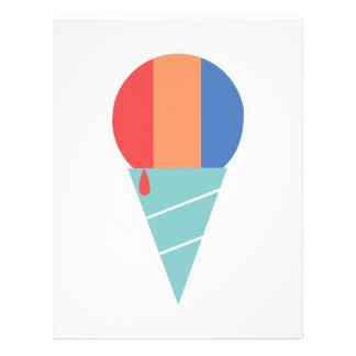 Striped Sno Cone Letterhead