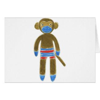 Striped Sock Monkey Card