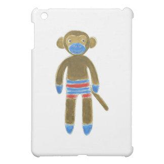 Striped Sock Monkey Cover For The iPad Mini