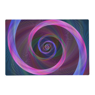 Striped spiral placemat